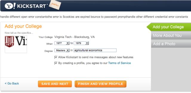 Yahoo! errors
