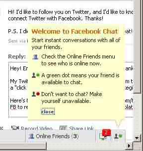 Facebook Chat annoyance