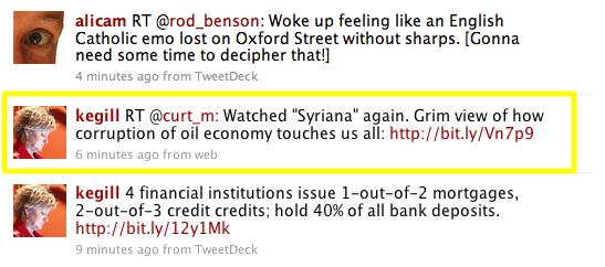 The retweet in context.