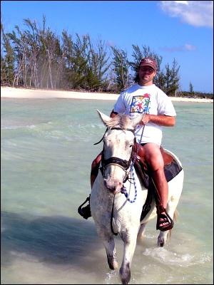 2005: Horseback In The Bahamas