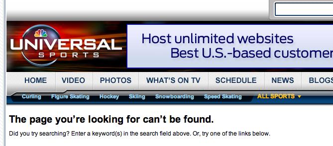 NBC Universal Sports 404