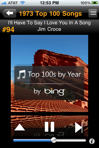 Bing's Top 100s By Year