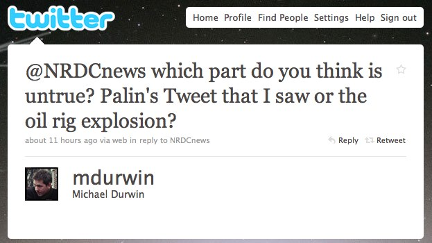 durwin palin tweet