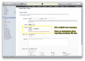 iTunes Ping Profile