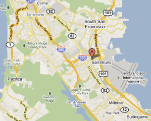 san bruno ca map