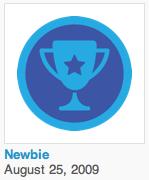 Foursquare Newbie Badge