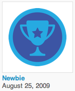Foursquare Newbie Badge