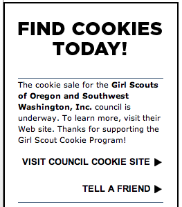 Girl Scout Cookie App - Portland OR Results