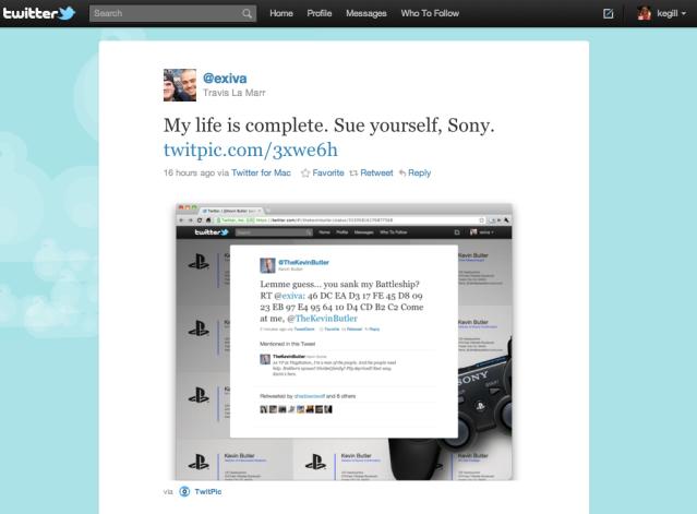 Twitter-Sony