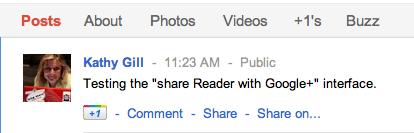 google reader share fail
