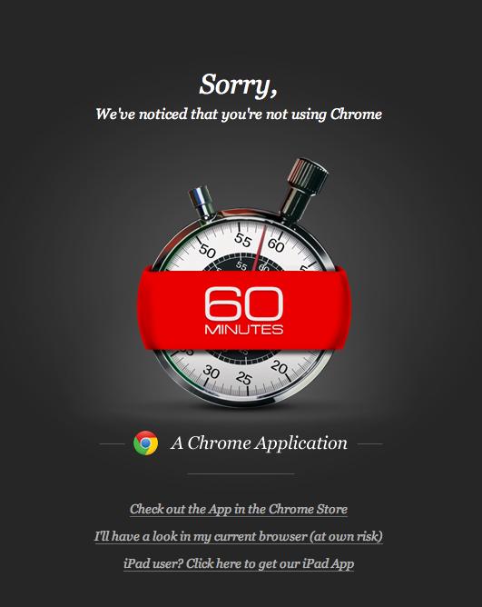 New CBS 60 Minutes Website In Safari