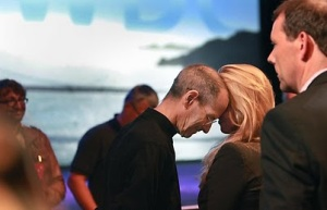 Steve Jobs and Laurene Powell Jobs