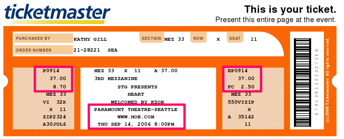 PSA Ticketmaster Customers DoubleCheck Your Email The – Printable Tickets Templates