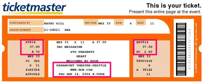 ticketmaster  - Heart in 2006