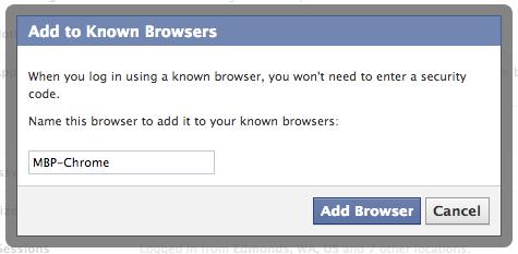Facebook Browser List