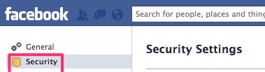 Facebook Security Navigation