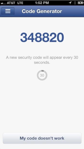 facebook code generator iOS